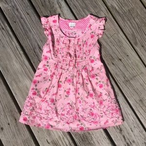 Place 1989 Pink Floral Rose Print Cotton Dress